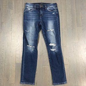 JOE'S Jeans Distressed Skinny Crop Ankle Denim 27